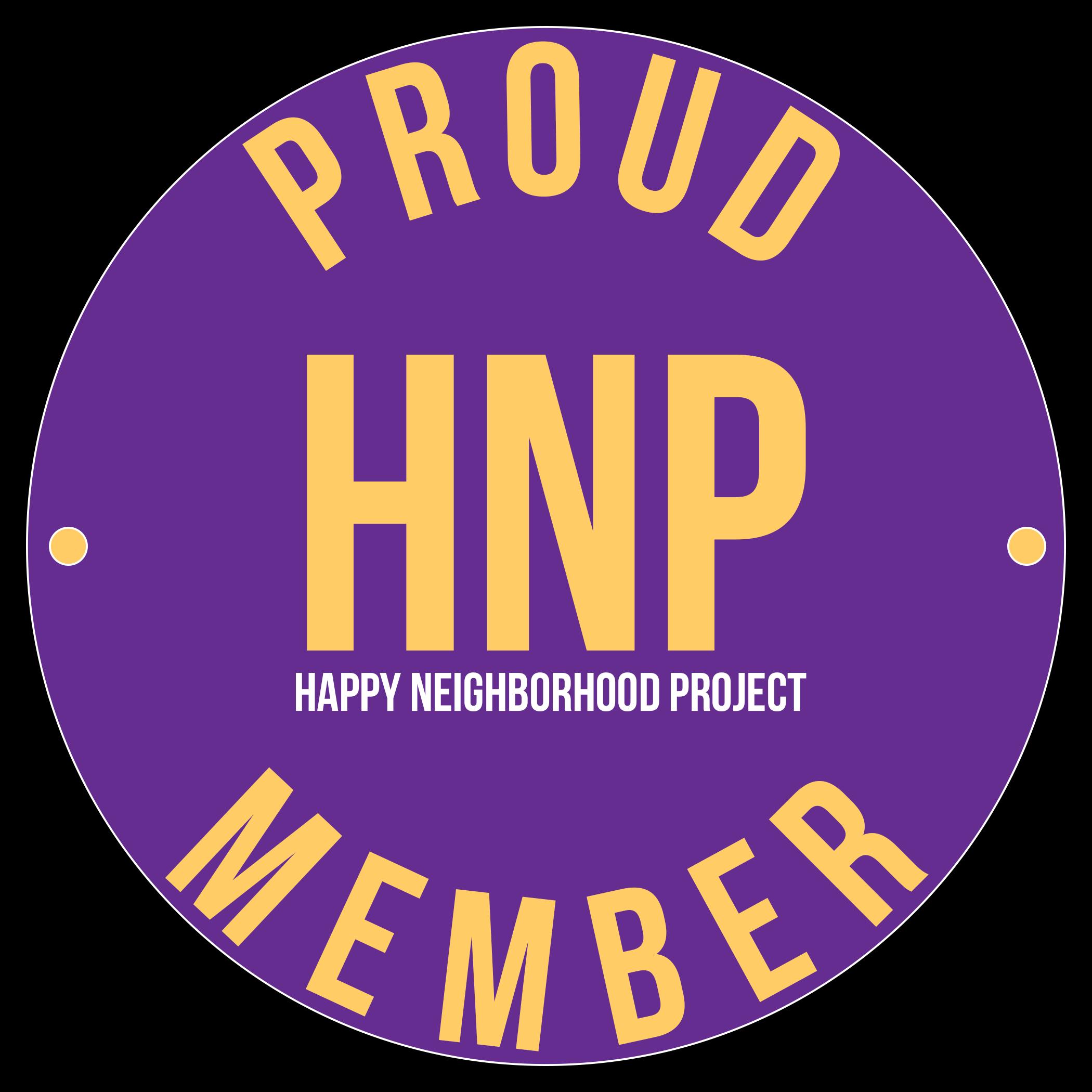 Happy Neighborhood Project Member Decal